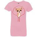 CHIHUAHUA ZIP-DOWN Girls' Princess T-Shirt