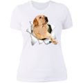 LABRADOR RETRIEVER 3D Ladies' Boyfriend T-Shirt