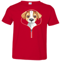 JACK RUSSELL ZIP-DOWN Toddler Jersey T-Shirt