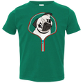 PUG ZIP-DOWN Toddler Jersey T-Shirt