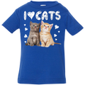 I LOVE CATS Infant Jersey T-Shirt