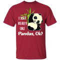 I JUST REALLY LIKE PANDAS Youth 5.3 oz 100% Cotton T-Shirt