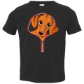 DACHSHUND ZIP-DOWN Toddler Jersey T-Shirt