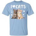 I LOVE CATS Youth 5.3 oz 100% Cotton T-Shirt