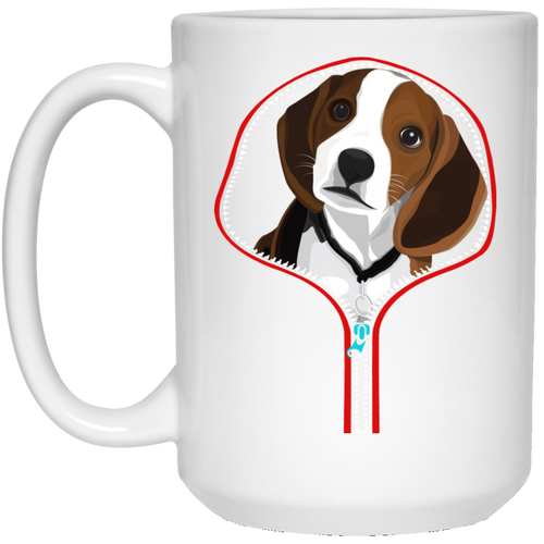 BEAGLE ZIP-DOWN 15 oz. White Mug