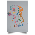 BLESSED Satin Portrait Poster