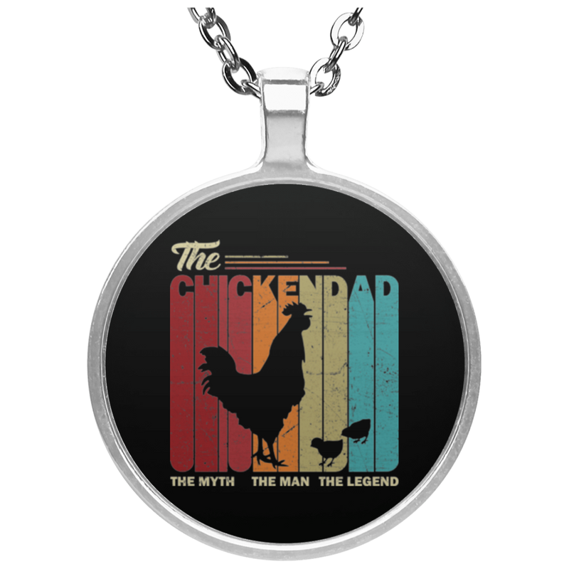 THE CHICKEN DAD Circle Necklace