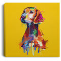 Hand Painted Vizsla Square Canvas .75in Frame
