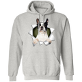 BOSTON TERRIER 3D LADIES Pullover Hoodie 8 oz.