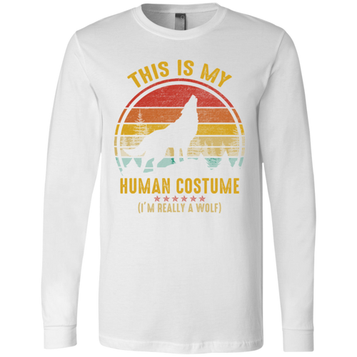 THIS IS MY HUMAN COSTUME Men's Jersey LS T-Shirt