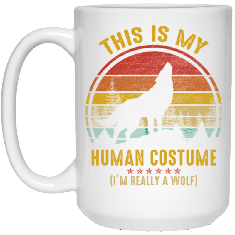 THIS IS MY HUMAN COSTUME 15 oz. White Mug