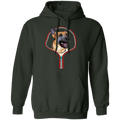 GERMAN SHEPARD ZIP-DOWN LADIES Pullover Hoodie 8 oz.