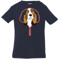 BASSET HOUND ZIP-DOWN Infant Jersey T-Shirt
