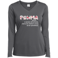 PAWMA Ladies' LS Performance V-Neck T-Shirt
