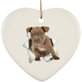 PITBULL 3D Ceramic Heart Ornament