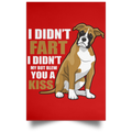 I DIDN'T FART Satin Portrait Poster