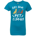 LIFE GOAL PET ALL THE DOG Girls' Princess T-Shirt
