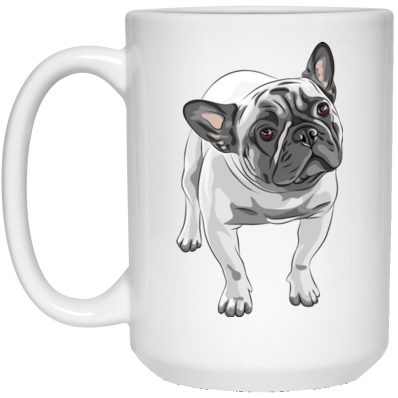 FUNNY ENGLISH BULLDOG 15 oz. White Mug