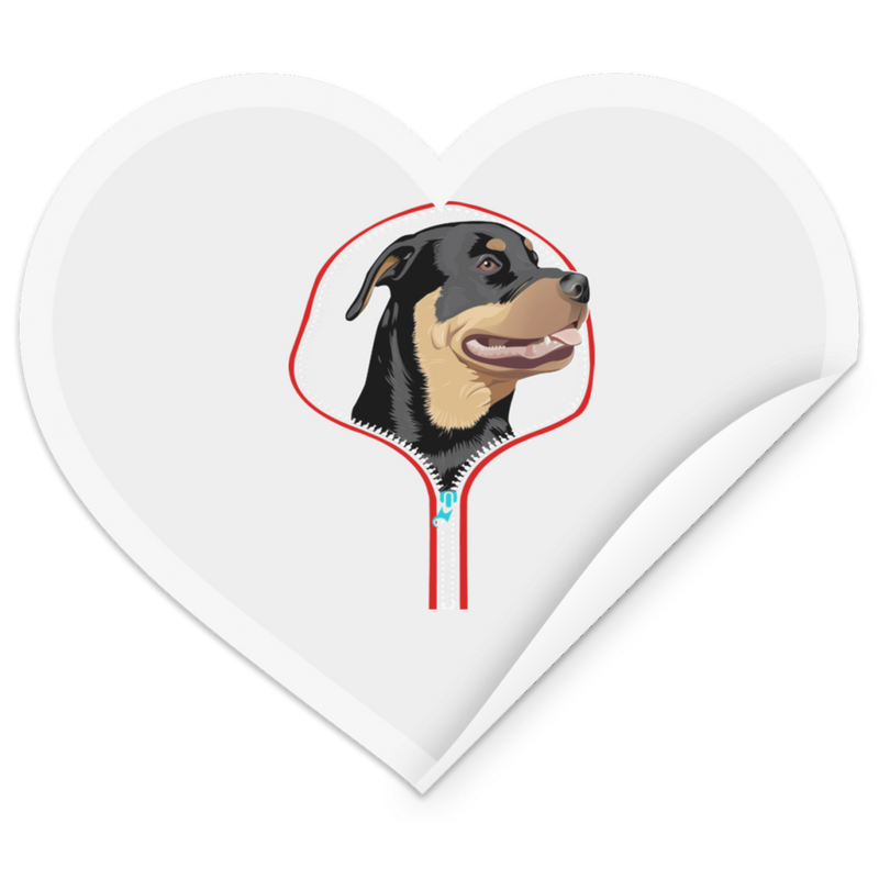 ROTTWEILER Heart Sticker