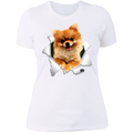 POMERANIAN 3D Ladies' Boyfriend T-Shirt