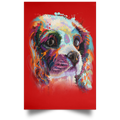 HAND PAINTED CAVALIER Satin Portrait Poster