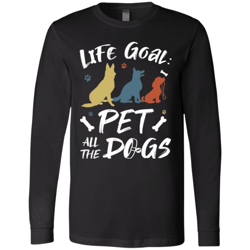 PET ALL THE DOGS Men's Jersey LS T-Shirt