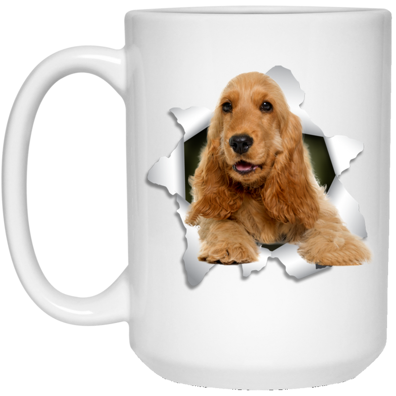 ENGLISH COCKER 3D 15 oz. White Mug