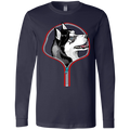 HUSKY ZIP-DOWN Men's Jersey LS T-Shirt