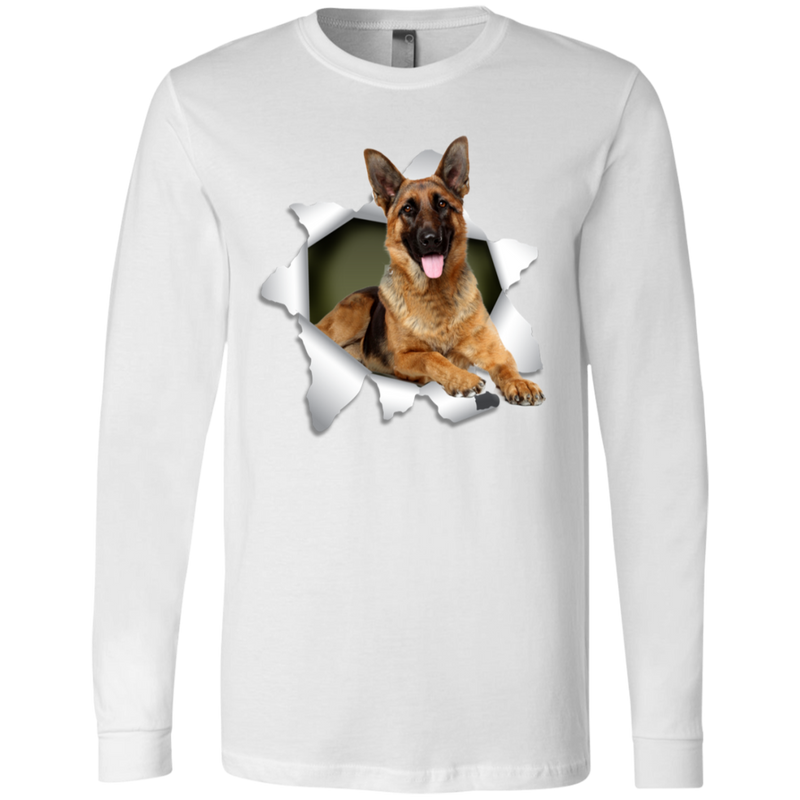 GERMAN SHEPARD Men's Jersey LS T-Shirt