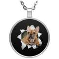 FRENCH BULLDOG 3D Circle Necklace