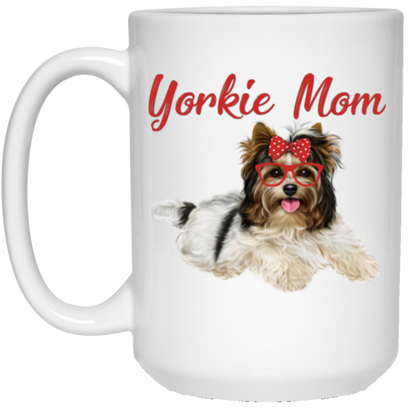 YORKIE MOM 15 oz. White Mug