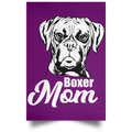 BOXER MOM Satin Portrait Poster