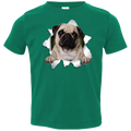 PUG 3D Toddler Jersey T-Shirt