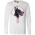 DOBERMAN ZIP-DOWN Men's Jersey LS T-Shirt