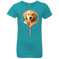 GOLDEN RETRIEVER ZIP-DOWN Girls' Princess T-Shirt