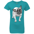 FUNNY ENGLISH BULLDOG Girls' Princess T-Shirt