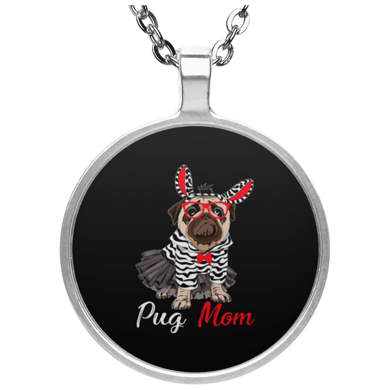 PUG MOM Circle Necklace