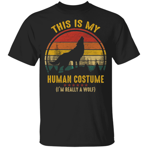 THIS IS MY HUMAN COSTUME Youth 5.3 oz 100% Cotton T-Shirt
