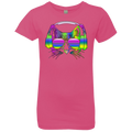 RAINBOW MUSIC CAT Girls' Princess T-Shirt