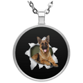 GERMAN SHEPARD 3D Circle Necklace