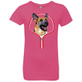 GERMAN SHEPARD ZIP-DOWN Girls' Princess T-Shirt