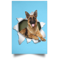 GERMAN SHEPHERD 3D Satin Portrait Poster