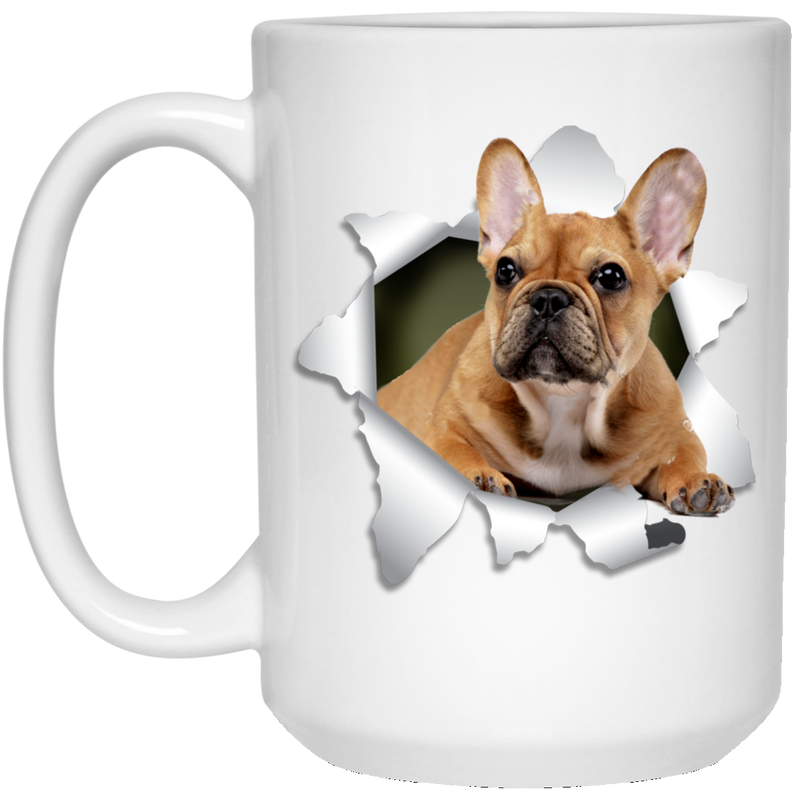 FRENCH BULLDOG 3D 15 oz. White Mug