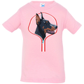 DOBERMAN ZIP-DOWN Infant Jersey T-Shirt