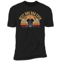MEN VINTAGE BEST DOG DAD EVER Premium Short Sleeve T-Shirt
