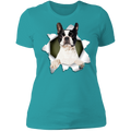 BOSTON TERRIER 3D Ladies' Boyfriend T-Shirt