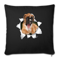 "BOXER Throw Pillow Cover 17.5"" x 17.5"" - black"