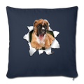 "BOXER Throw Pillow Cover 17.5"" x 17.5"" - navy"