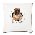 "BOXER Throw Pillow Cover 17.5"" x 17.5"" - natural white"