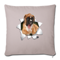 "BOXER Throw Pillow Cover 17.5"" x 17.5"" - light taupe"